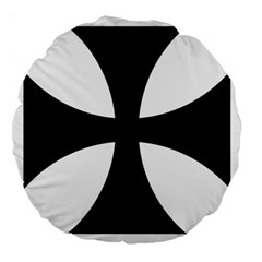 Cross Patty  Large 18  Premium Flano Round Cushions by abbeyz71