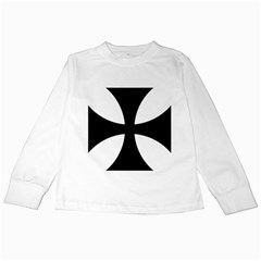 Cross Patty Kids Long Sleeve T Shirts by abbeyz71
