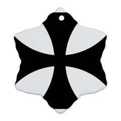 Cross Patty Snowflake Ornament (two Sides) by abbeyz71