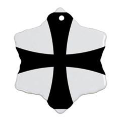 Cross Patty Ornament (snowflake) by abbeyz71