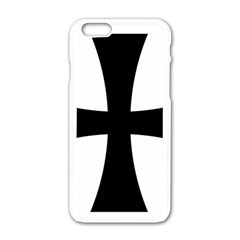 Cross Patty Apple Iphone 6/6s White Enamel Case by abbeyz71