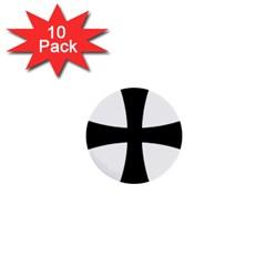 Cross Patty 1  Mini Buttons (10 Pack)  by abbeyz71