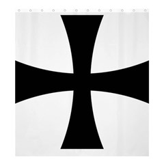 Cross Patty Shower Curtain 66  X 72  (large)  by abbeyz71