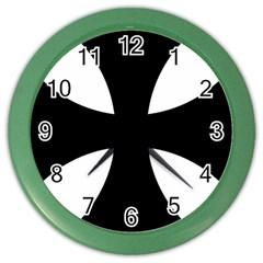 Cross Patty  Color Wall Clocks by abbeyz71