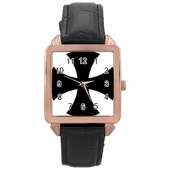 Cross Patty Rose Gold Leather Watch  by abbeyz71