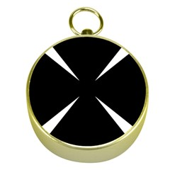 Cross Patty  Gold Compasses by abbeyz71