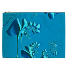 Amazing Floral Fractal A Cosmetic Bag (xxl)  by Fractalworld