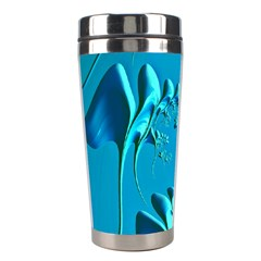 Amazing Floral Fractal A Stainless Steel Travel Tumblers by Fractalworld
