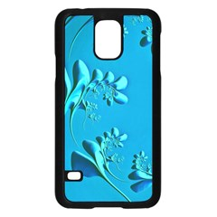 Amazing Floral Fractal A Samsung Galaxy S5 Case (black) by Fractalworld