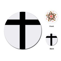 Patriarchal Cross Playing Cards (round)  by abbeyz71