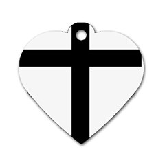 Patriarchal Cross Dog Tag Heart (one Side) by abbeyz71