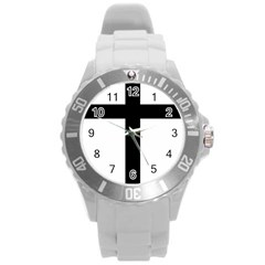 Patriarchal Cross Round Plastic Sport Watch (l) by abbeyz71