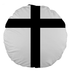 Patriarchal Cross Large 18  Premium Round Cushions by abbeyz71
