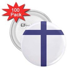 Patriarchal Cross 2 25  Buttons (100 Pack)  by abbeyz71