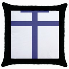 Patriarchal Cross Throw Pillow Case (black) by abbeyz71