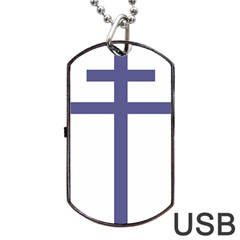 Patriarchal Cross Dog Tag Usb Flash (one Side) by abbeyz71