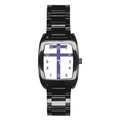 Patriarchal Cross Stainless Steel Barrel Watch by abbeyz71