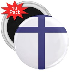 Patriarchal Cross 3  Magnets (10 Pack)  by abbeyz71