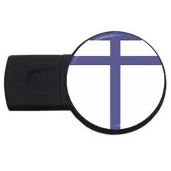 Patriarchal Cross Usb Flash Drive Round (4 Gb) by abbeyz71