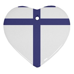 Patriarchal Cross Heart Ornament (two Sides) by abbeyz71
