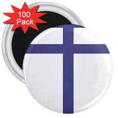 Patriarchal Cross  3  Magnets (100 Pack) by abbeyz71