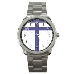 Patriarchal Cross  Sport Metal Watch by abbeyz71