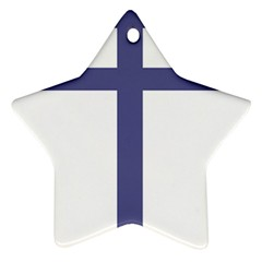 Patriarchal Cross  Star Ornament (two Sides)