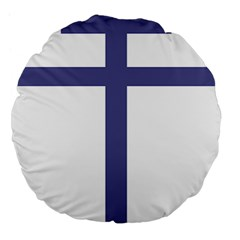 Patriarchal Cross  Large 18  Premium Flano Round Cushions by abbeyz71