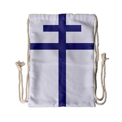 Patriarchal Cross  Drawstring Bag (small) by abbeyz71