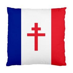 Flag Of Free France (1940 1944) Standard Cushion Case (two Sides) by abbeyz71