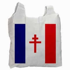 Flag Of Free France (1940 1944) Recycle Bag (one Side) by abbeyz71