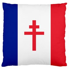 Flag Of Free France (1940 1944) Large Flano Cushion Case (two Sides) by abbeyz71