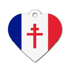 Flag Of Free France (1940 1944) Dog Tag Heart (two Sides) by abbeyz71
