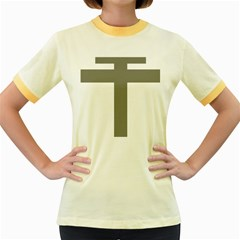 Cross Of Loraine Women s Fitted Ringer T Shirts by abbeyz71