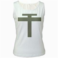 Cross Of Loraine Women s White Tank Top by abbeyz71