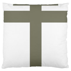 Cross Of Loraine Large Cushion Case (two Sides) by abbeyz71