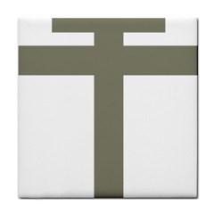 Cross Of Lorraine  Tile Coasters by abbeyz71