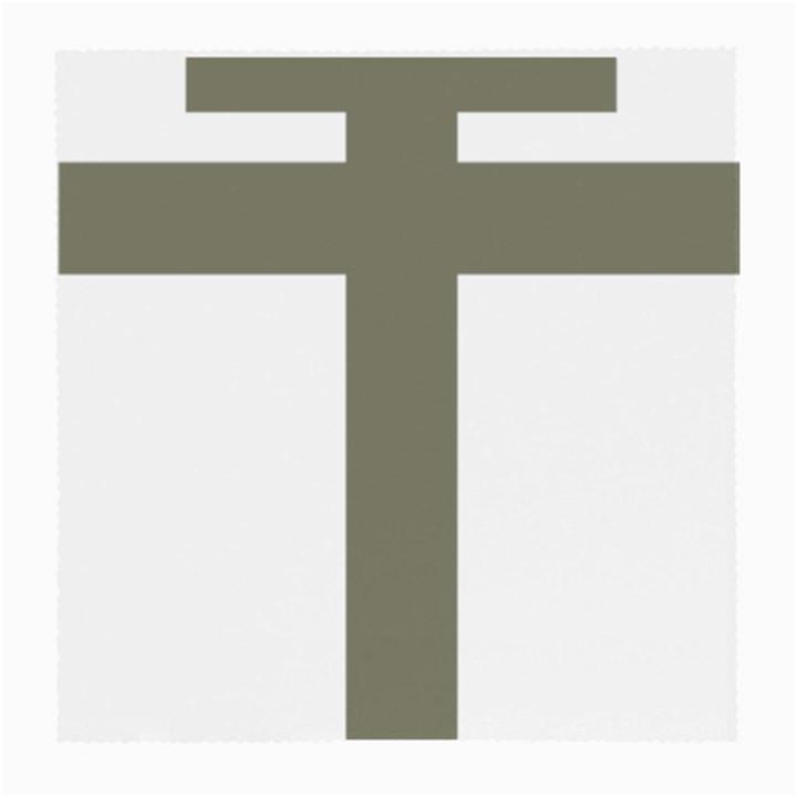 Cross of Lorraine  Medium Glasses Cloth (2-Side)