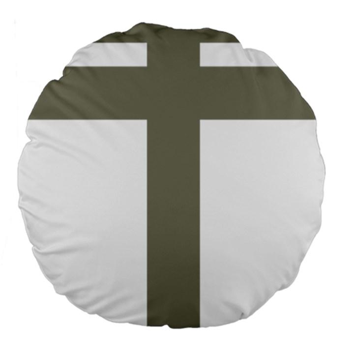 Cross of Lorraine  Large 18  Premium Round Cushions