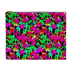 Colorful Leaves Cosmetic Bag (xl) by Costasonlineshop