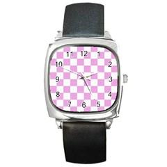 Pattern Square Metal Watch by Valentinaart
