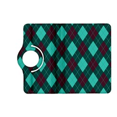 Plaid Pattern Kindle Fire Hd (2013) Flip 360 Case by Valentinaart