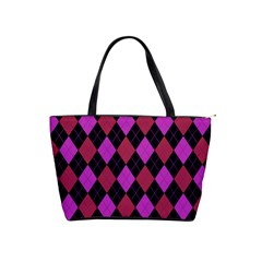 Plaid Pattern Shoulder Handbags by Valentinaart