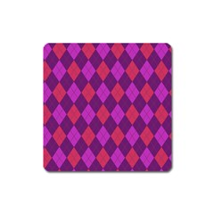Plaid Pattern Square Magnet by Valentinaart
