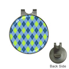 Plaid Pattern Hat Clips With Golf Markers by Valentinaart