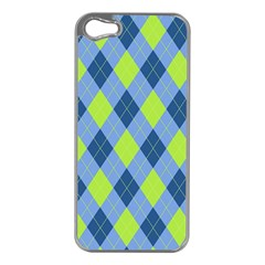 Plaid Pattern Apple Iphone 5 Case (silver) by Valentinaart