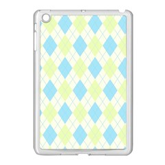 Plaid Pattern Apple Ipad Mini Case (white) by Valentinaart
