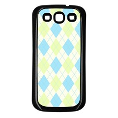 Plaid Pattern Samsung Galaxy S3 Back Case (black) by Valentinaart