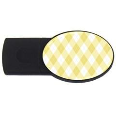 Plaid Pattern Usb Flash Drive Oval (2 Gb) by Valentinaart