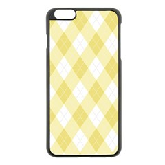 Plaid Pattern Apple Iphone 6 Plus/6s Plus Black Enamel Case by Valentinaart